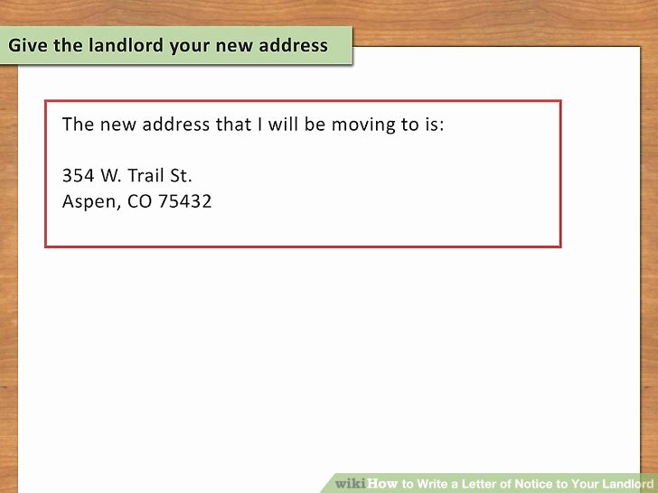 Move Out Notice to Landlord Fresh How to Write A Letter Of Notice to Your Landlord 14 Steps