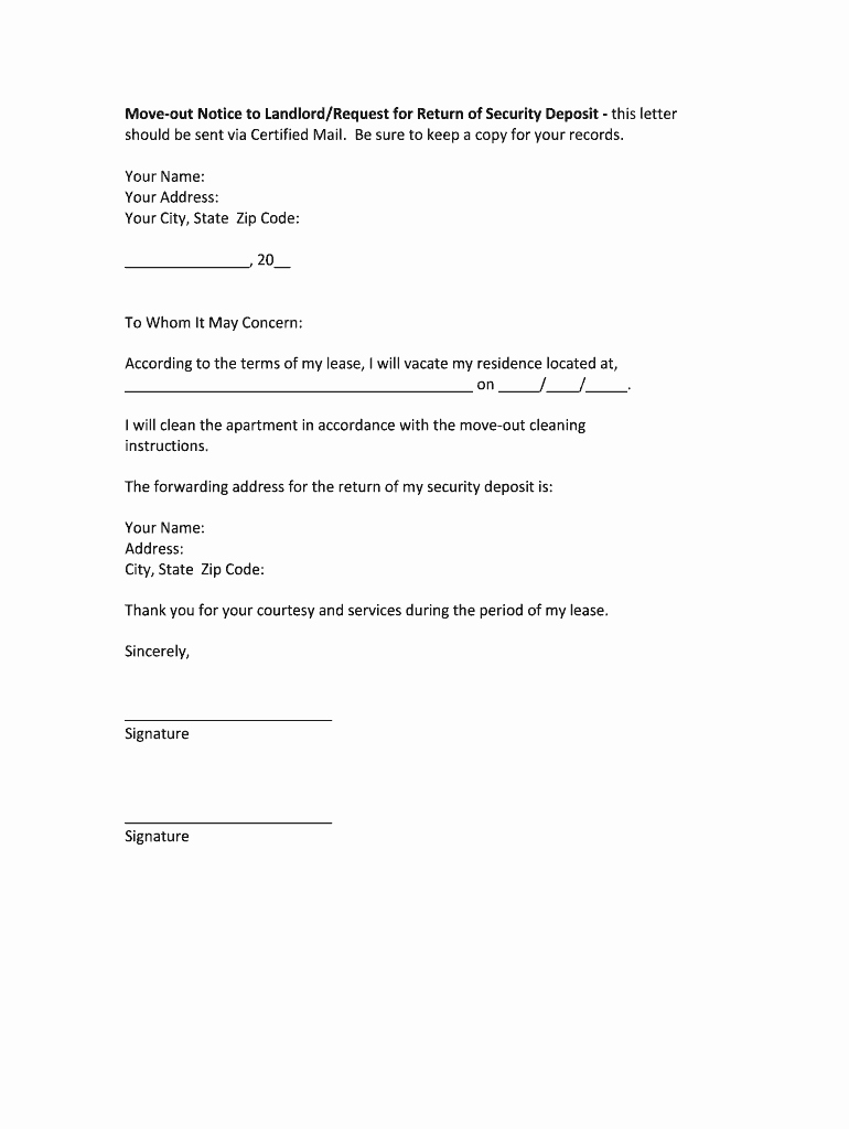 Moving Out Notification Letter Sample Beautiful How to Write A Letter to Landlord Moving Out Fill Line