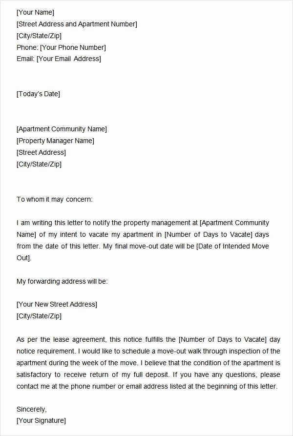 Moving Out Notification Letter Sample Beautiful Two Weeks Notice Letter 12 Download Free Documents In Word