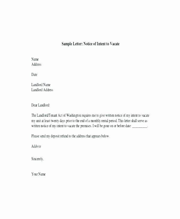 Moving Out Notification Letter Sample Fresh Moving Notice Template