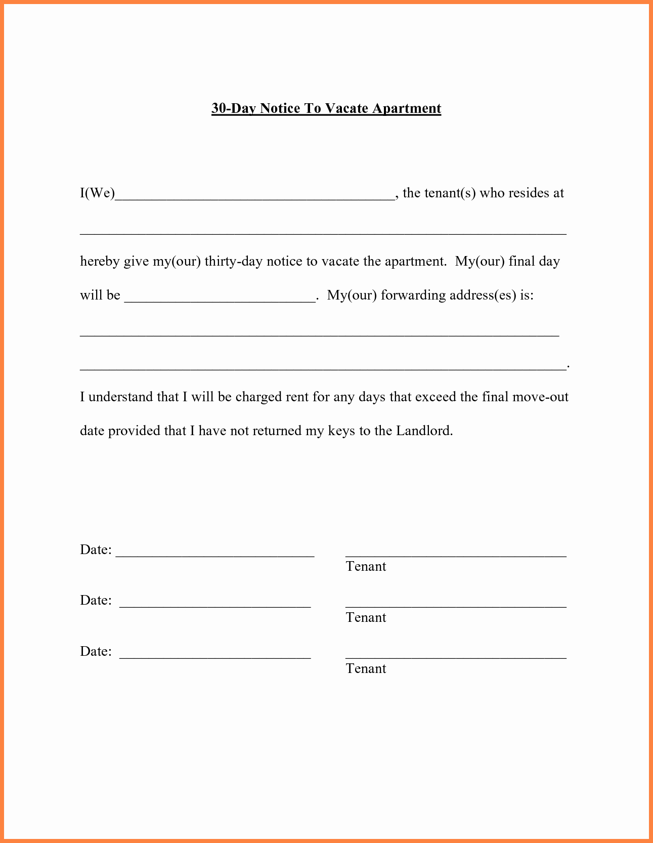 Moving Out Notification Letter Sample New Sample Notice to Vacate Apartment Apartment Decorating Ideas
