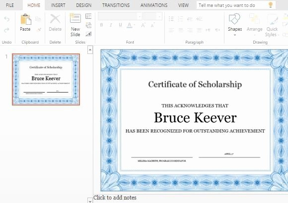 Ms Powerpoint Certificate Template Beautiful Best Certificate Templates for Powerpoint