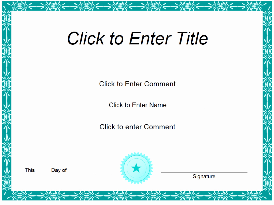 Ms Powerpoint Certificate Template Best Of How to Create Certificate Achievement Templates In