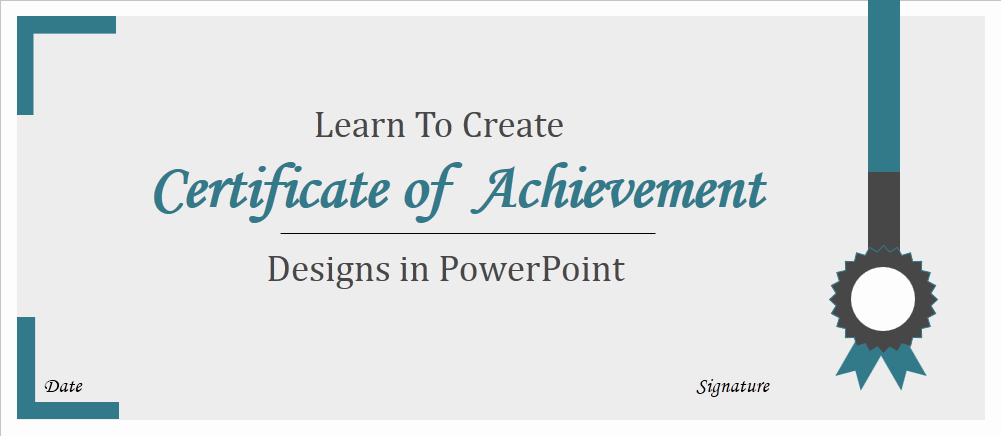 Ms Powerpoint Certificate Template Elegant How to Create Certificate Achievement Templates In