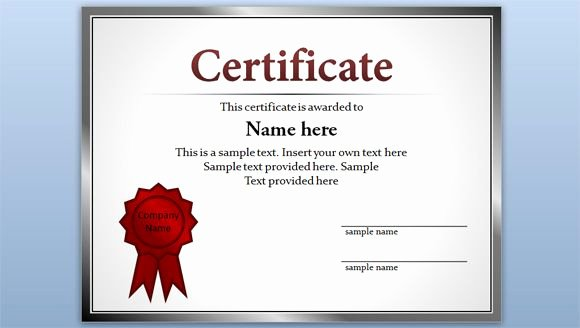 Ms Powerpoint Certificate Template Inspirational Free Editable Certificate Template for Powerpoint