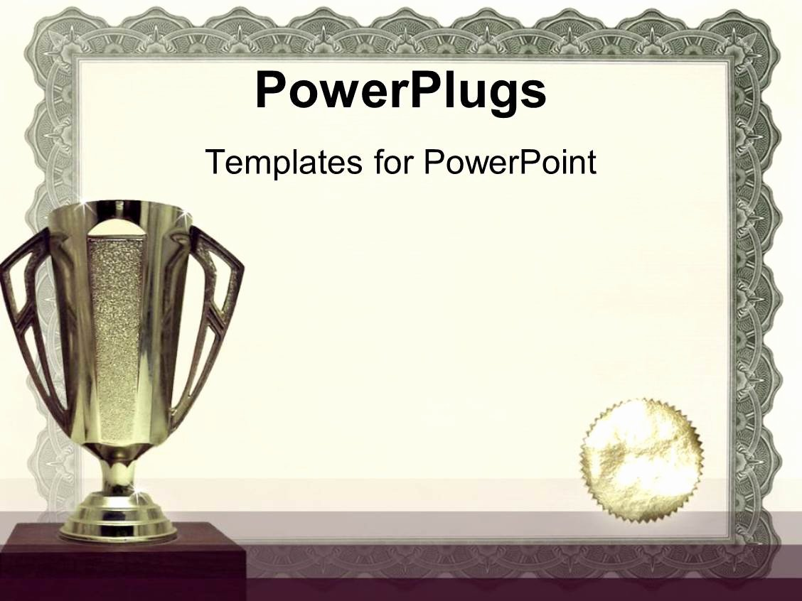 Ms Powerpoint Certificate Template Lovely Powerpoint Template Medals Certificates Awarding