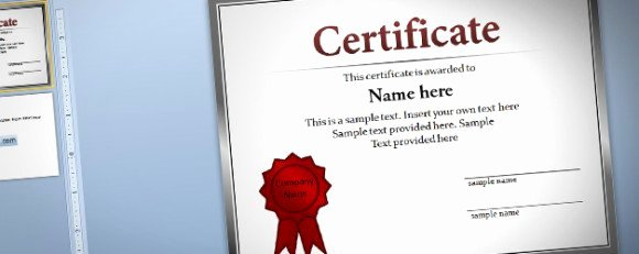Ms Powerpoint Certificate Template New Free Certificate Template for Powerpoint 2010 & 2013