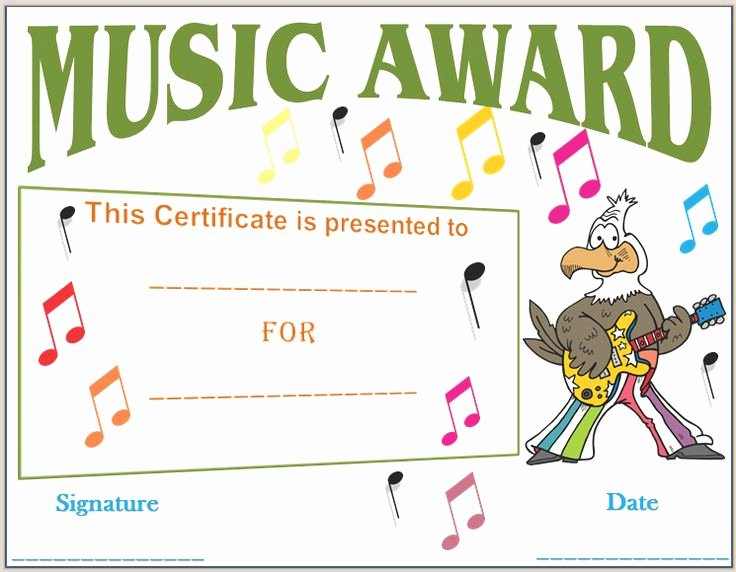 Music Achievement Award Certificate Luxury 22 Best Images About Award Certificate Templates On