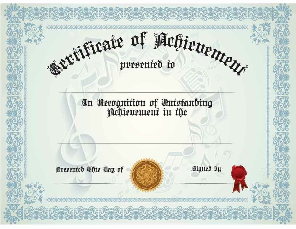 Music Award Certificate Template Awesome Music Certificate Anuvratfo Teacher