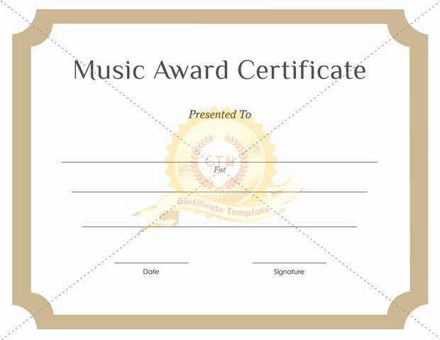 Music Award Certificate Template Beautiful Music Award Pdfs Certificate Template