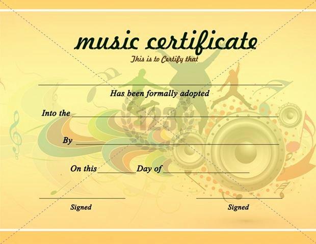 Music Award Certificate Template Luxury Beautiful Music Certificate Templates for Free Download