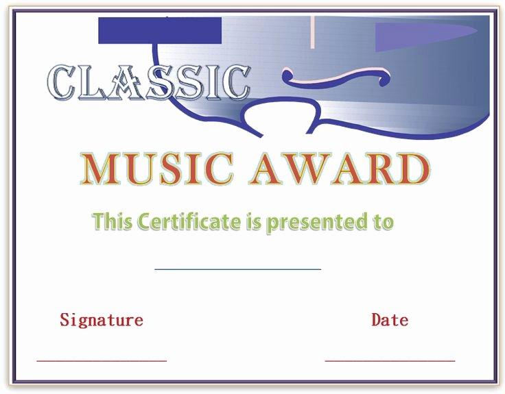 Music Award Certificate Template New 22 Best Images About Award Certificate Templates On
