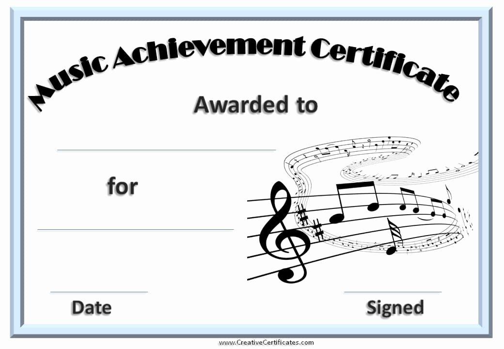 Music Award Certificate Template Unique Free Editable Music Certificate Template Free and