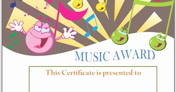 Music Award Certificate Templates Free Best Of Smiley Face Music Award Certificate