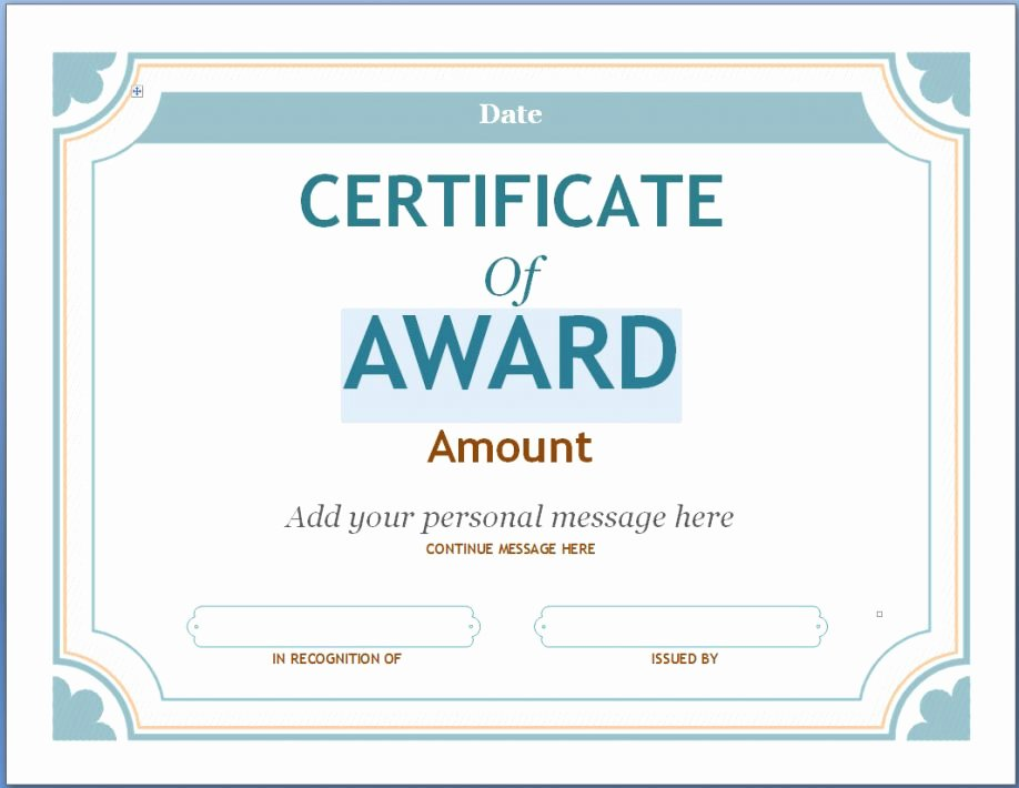 Music Award Certificate Templates Free Elegant Printable Award Certificates Free for Teachers Children S