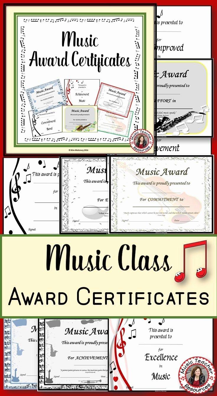 Music Award Certificate Templates Free Inspirational Best 25 Award Certificates Ideas On Pinterest