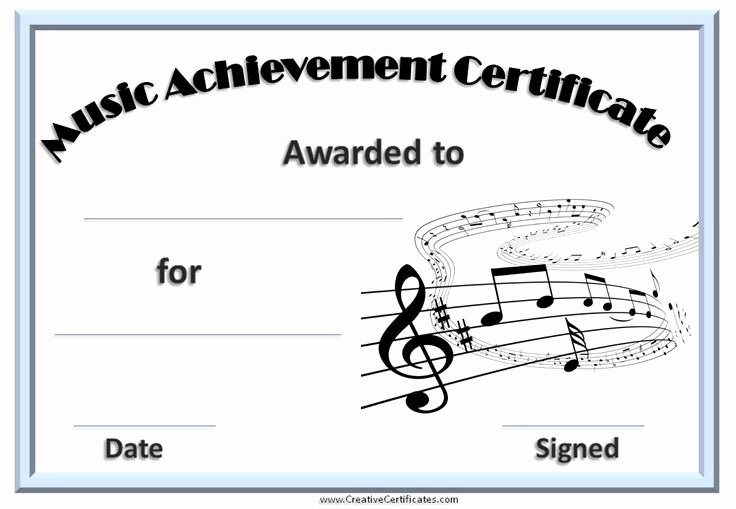 Music Award Certificate Templates Free Lovely 9 Best Certificates Images On Pinterest