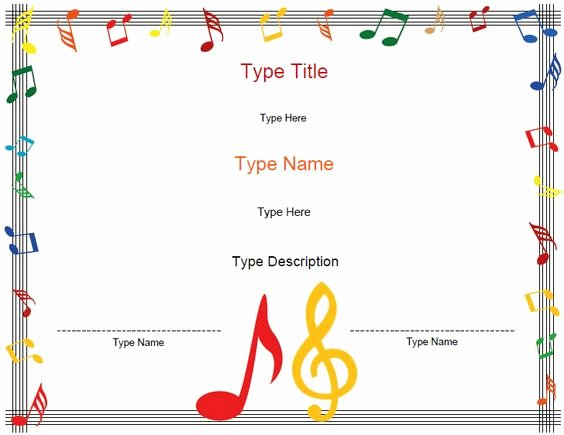 Music Awards Certificates Templates Best Of Award Certificates Certificate Templates and Music Awards