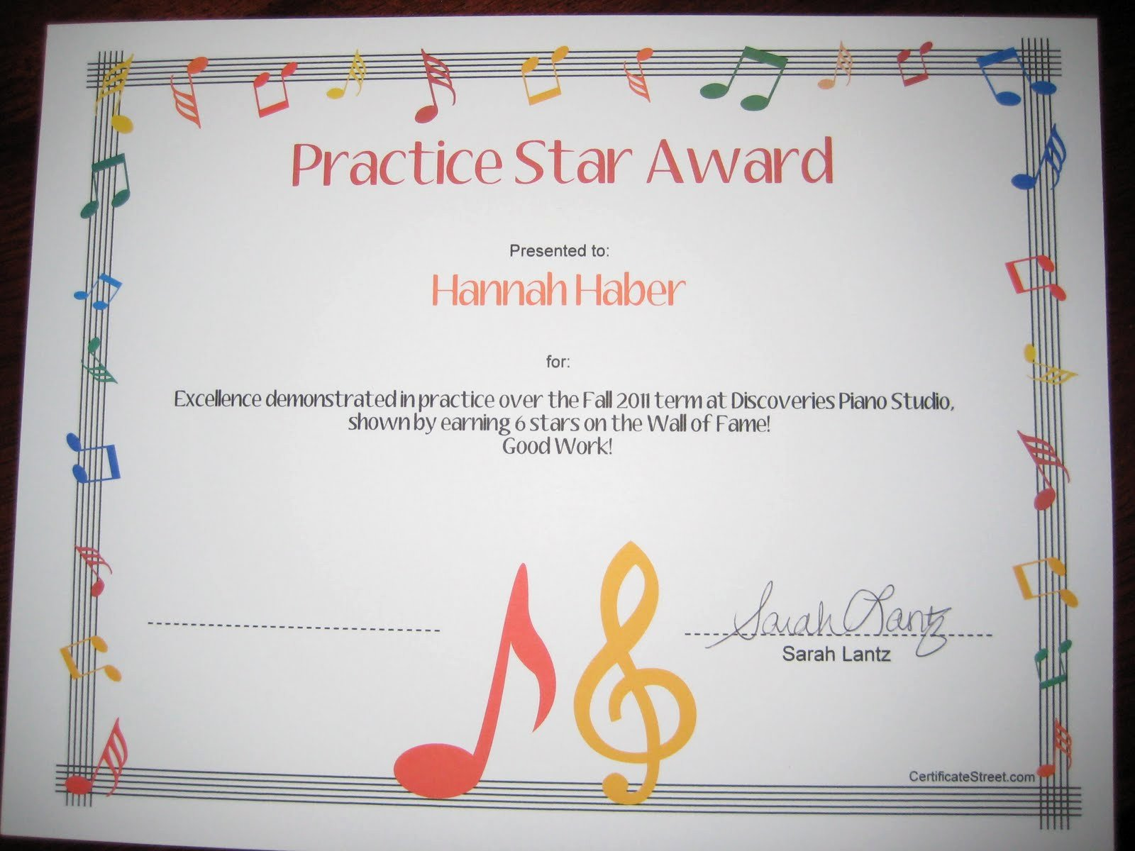 Music Awards Certificates Templates Elegant Discoveries Piano Studio Resource for Free Printable