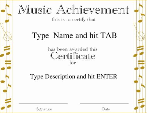 Music Awards Certificates Templates Fresh Appreciation Quotes for Performing Arts Quotesgram