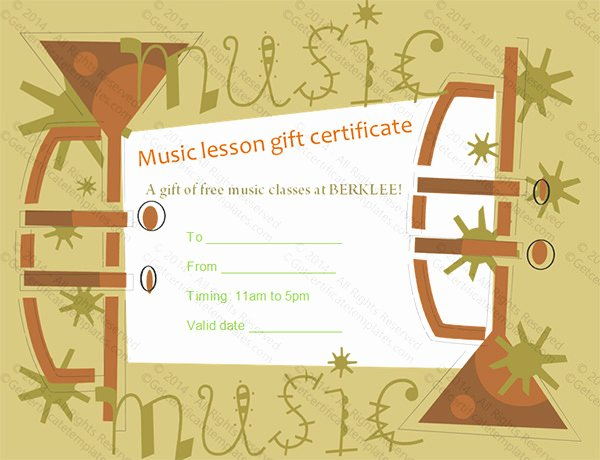 Music Awards Certificates Templates Lovely 8 Printable Music Certificate Templates Word Psd Ai