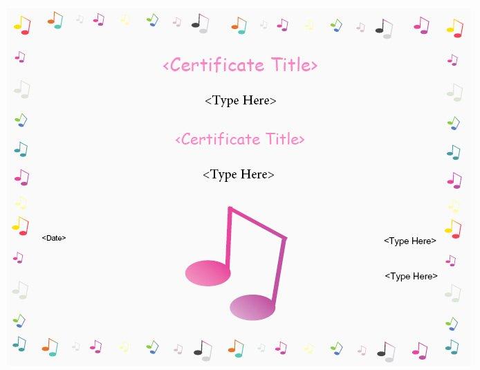 Music Awards Certificates Templates Luxury Education Certificates Music Award Certificate