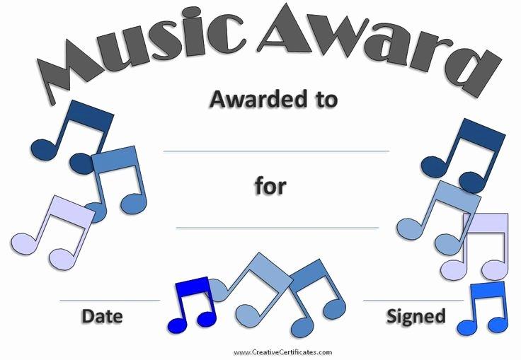 Music Awards Certificates Templates Unique 23 Best Award Certificates Images On Pinterest