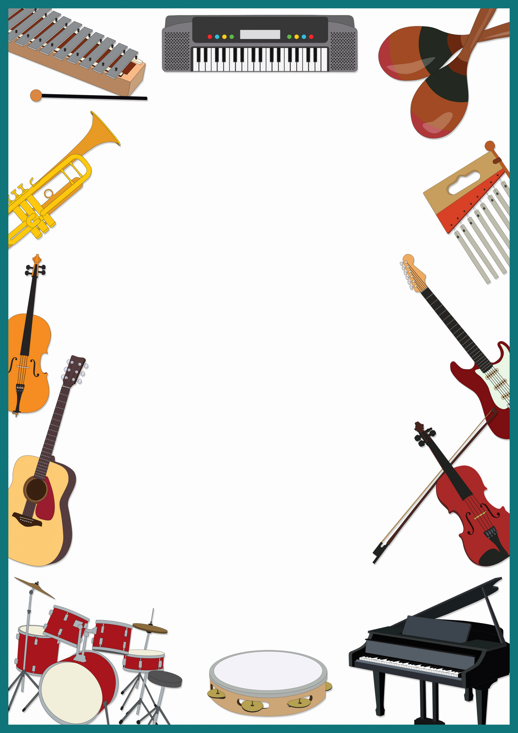 Music Borders for Word Elegant Music Borders and Frames Clipart Clipground