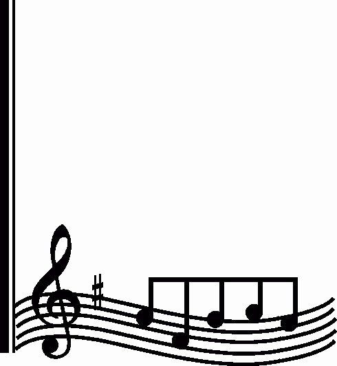 Music Borders for Word Fresh Music Note Border Clipart