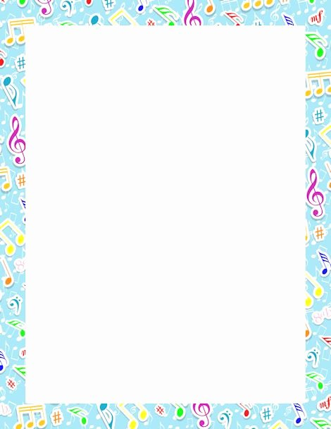 Music Borders for Word Lovely Music Note Border Clipartion