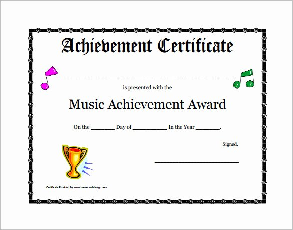 Music Certificate Template for Word Beautiful 8 Printable Music Certificate Templates Word Psd Ai