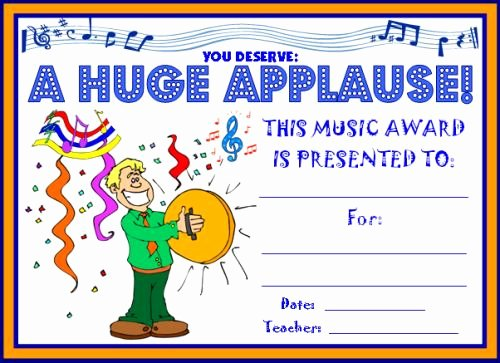 Music Certificate Template for Word Beautiful Music Certificate Template for Word