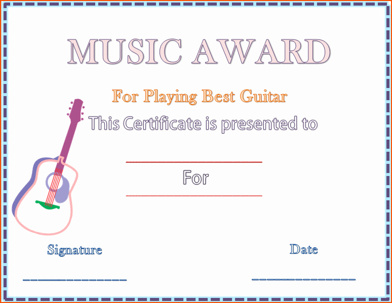 Music Certificate Template for Word New 7 Award Template Word Bookletemplate