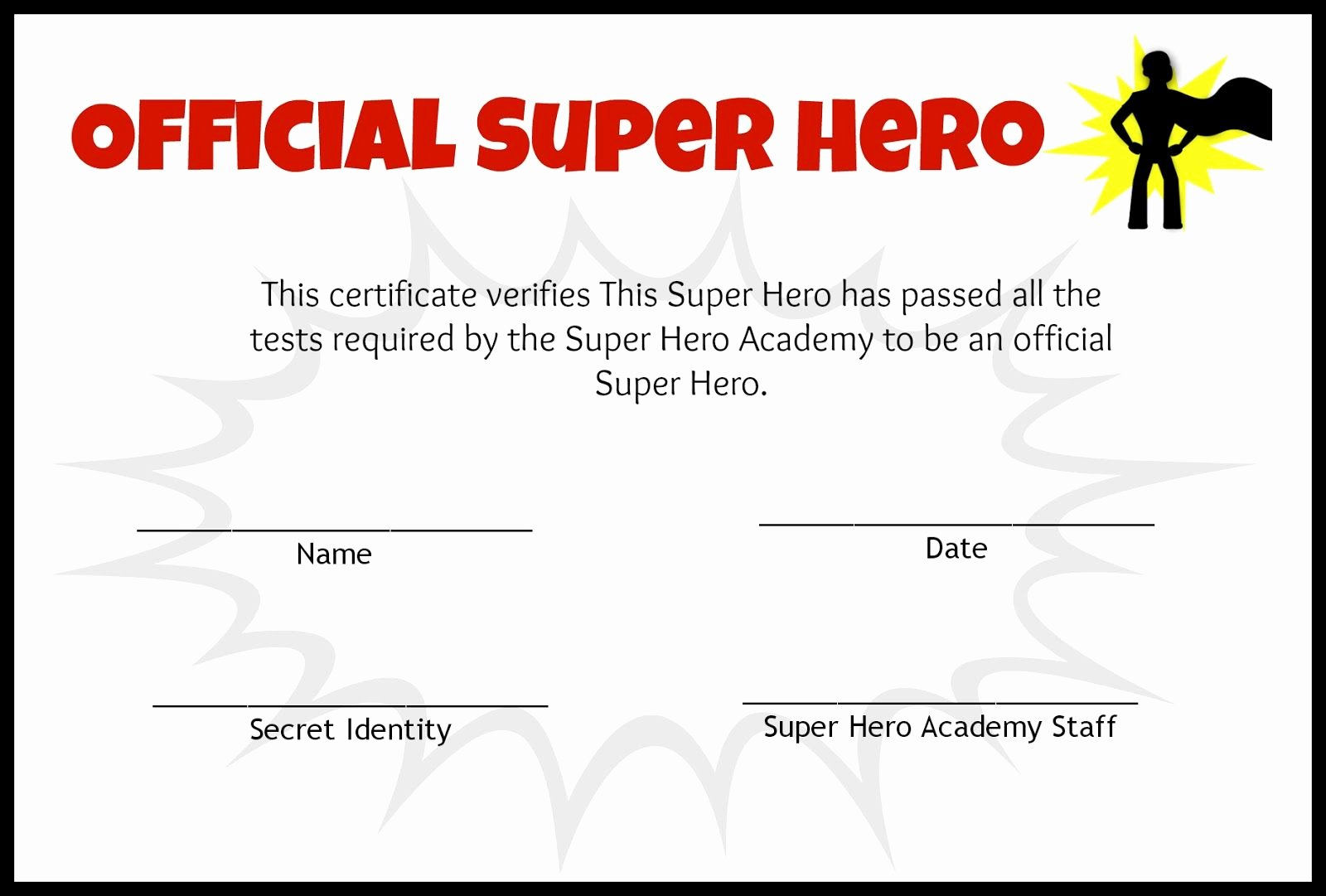 My Hero Award Template Beautiful after the Obstacle Course All the Kids Got Certificates