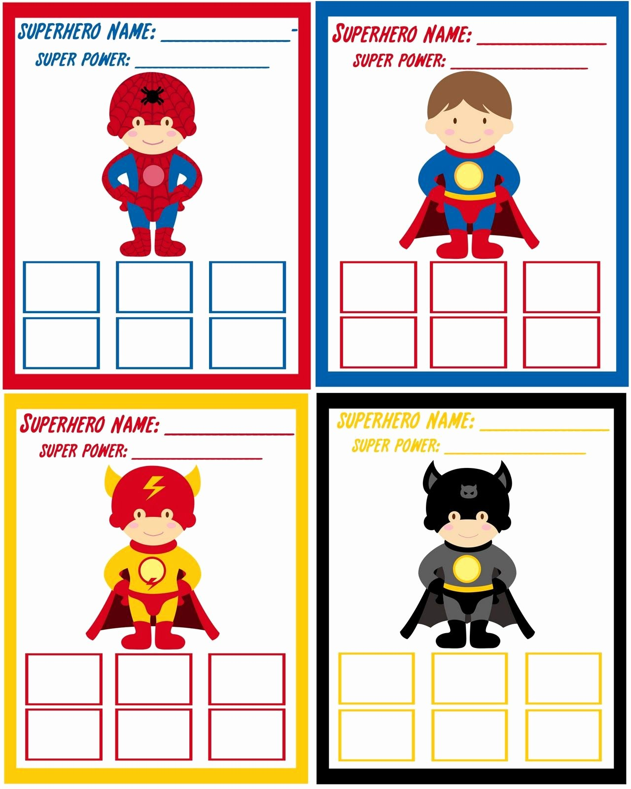 My Hero Award Template Best Of Super Hero Training Academy Cards
