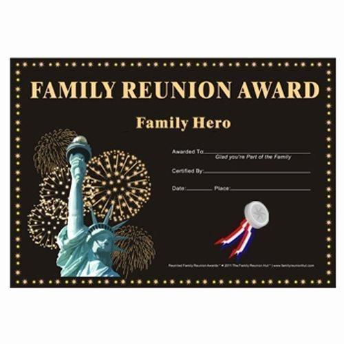My Hero Award Template Elegant Family Hero Award Country Pride theme Free Family Reunion