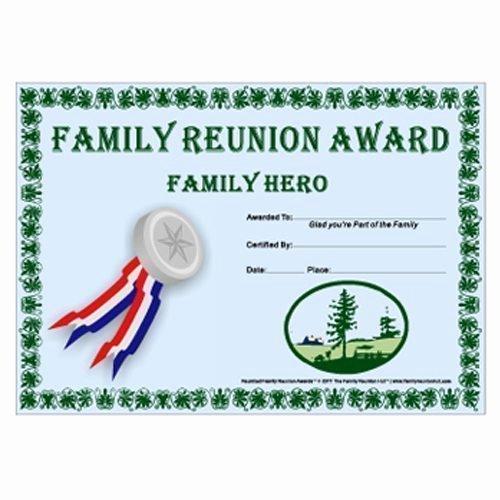 My Hero Award Template Unique Family Hero Award Prairie Life theme Free Family Reunion