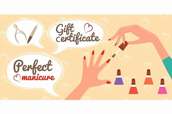 Nail Gift Certificate Template Awesome Gift Certificate Perfect Manicure Gift Voucher Design