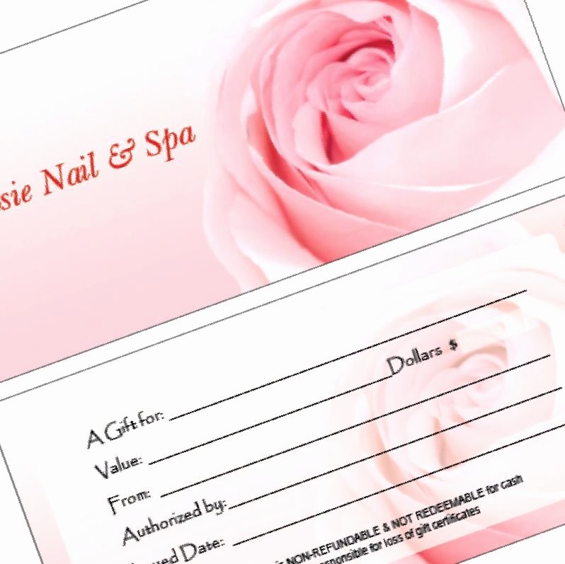 Nail Gift Certificate Template Beautiful 30 Nail Gift Certificate Design Stylepics