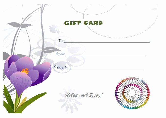 Nail Gift Certificate Template Inspirational Free Printable Manicure Gift Certificate