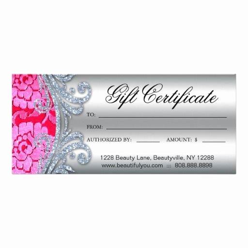 Nail Salon Gift Certificate Template Elegant Gift Certificate Floral Lace Nail Hair Salon