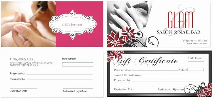 Nail Salon Gift Certificate Template Elegant Nail Salon Gift Certificate Good Nail Gift Certificate