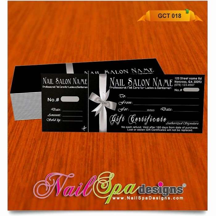 Nail Salon Gift Certificate Template Lovely 50 Best Nail Spa Gift Certificate Design Images On