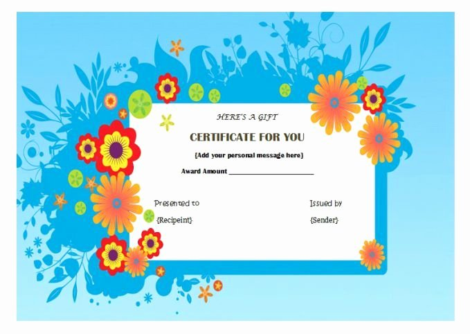 Nail Salon Gift Certificate Template Lovely Manicure Pedicure T Certificate