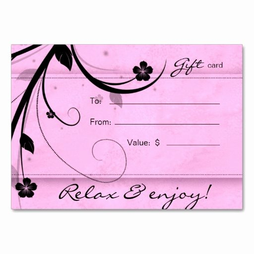 Nail Salon Gift Certificate Template New Certificate Templates Hair Nail Spa Printing