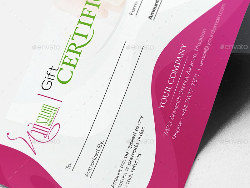 Nail Salon Gift Certificate Template New Nail Salon Gift Certificate and Business Card Template by