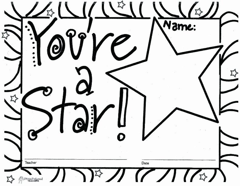 Name A Star Certificate Template Elegant You're A Star Free Printable Blank Certificates