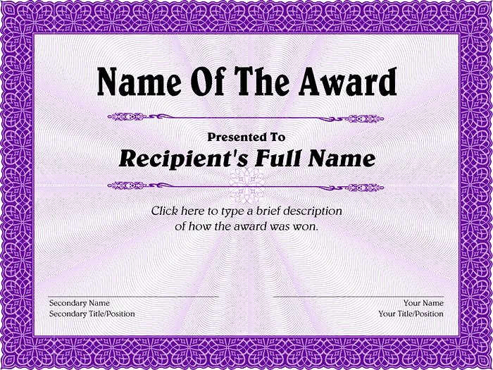 Name A Star Certificate Template Free Elegant 30 Free Printable Certificate Templates to Download