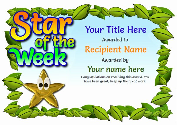 Name A Star Certificate Template Free Luxury Free Certificate Templates Simple to Use Add Printable