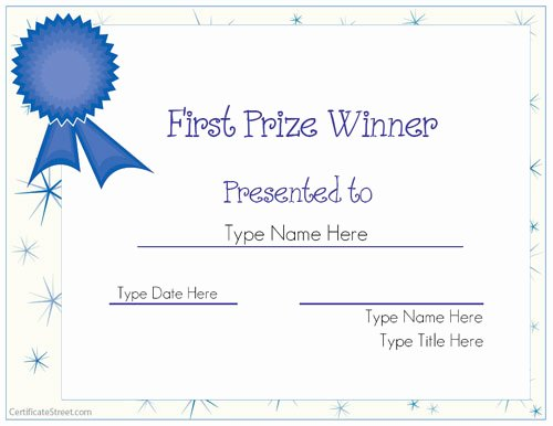 Name A Star Certificate Template Fresh Blank Certificates First Prize Winner Certificate